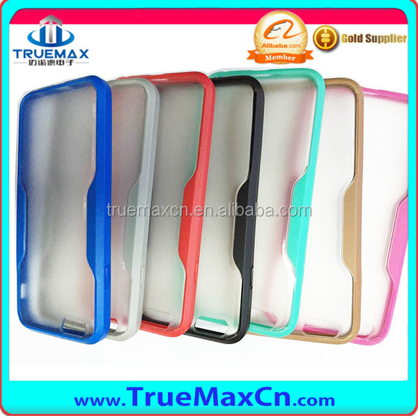 New Arrival ! TPU Edge vs Scrub PC Back Cover Case for iPhone 6 4.7inch