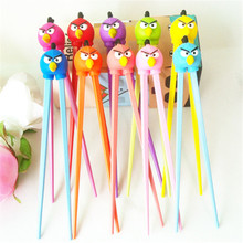 Top quality silicone animal head children study plastic chopsticks and silicone chopsticks holder