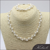AAA top quality genuine pearl artificial bridal jewellery set