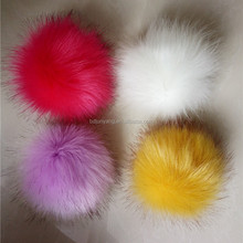 fox pompom fake fur fox tail fur bag charm