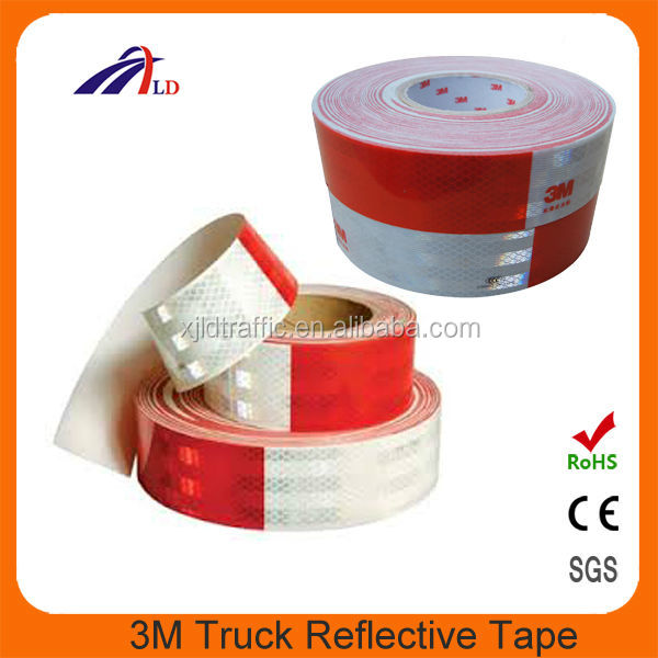 High reflection at dark night 3m reflective tape red white