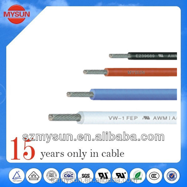 PFA electrical heating cable/electric wire plastic cover