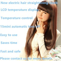 ce rohs certification fast and easy to use ceramic plate type electric straight hair comb