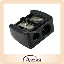 Cosmetic eye pencil sharpener makeup sharpener 2 Holes black
