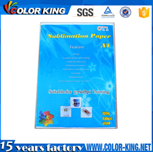 High Quality 108 gram A4 Mug T Shirt Dye Sublimation heat transfer Printing Paper with low price
