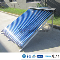 Non-pressurized Vacuum Tube Direct Flow Solar Hot Water Heating Project