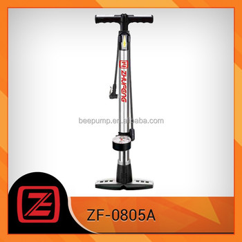 High pressure with foldable guage bicycle pump