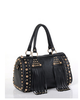 Women 1296735082 studded PU leather handbag