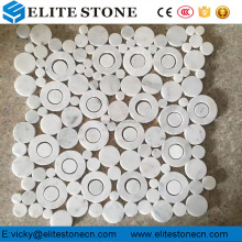 Carrara White marble / stone mosaic for wall, floor, bathroom, kitchen penny round tile