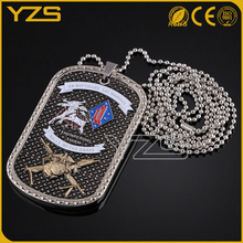 Wholesale Custom bronze plating offical military dog tag with necklace