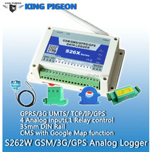 energy data logger gsm remote control switch <strong>temperature</strong> and humidity data logger S262 with 4 channels analog input