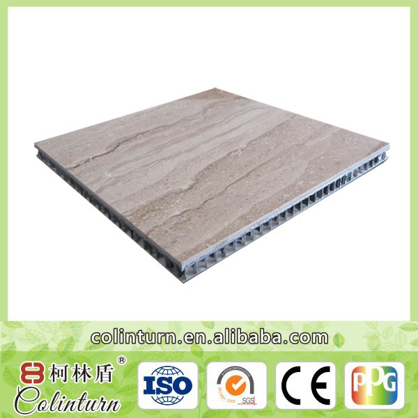 PE coated lightweight partition wall cladding aluminum honeycomb sandwich panel