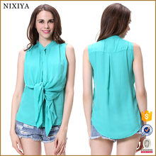 casual chiffon blouse top clothing manufacturers lady blouse