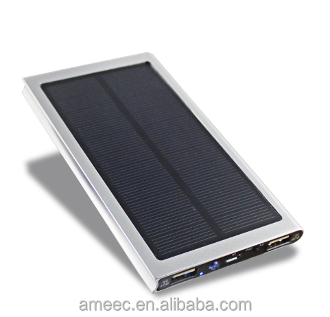 Mobile phone charger solar power bank 10000mah rechargeable battery for travelling portable save energy solar power bank