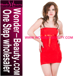 Wholesale Price Red Tube Dress Strapless Cub Wear Women
