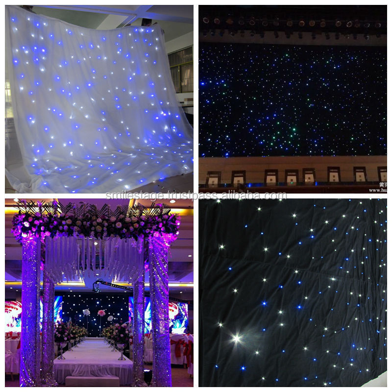 Wholesale Customized size led light curtain wall/ led curtain for stage background