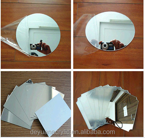 Bespoke colored acrylic centerpiece mirror