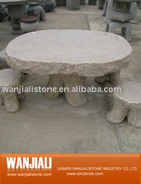 Granite outdoor table