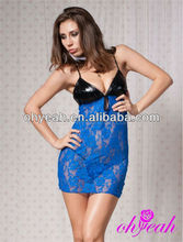 Blue New Sex Girls Photos Open Lingerie/Sexy Babydoll