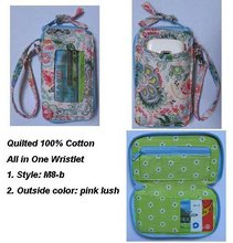 Z370 M8 QUILTED COTTON ALL IN ONE WRISTLET WITH PHONE POCKET