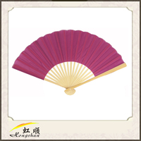 Violet Japanese Folding Silk Hand Fan For Wedding Commodity For Wedding Favors