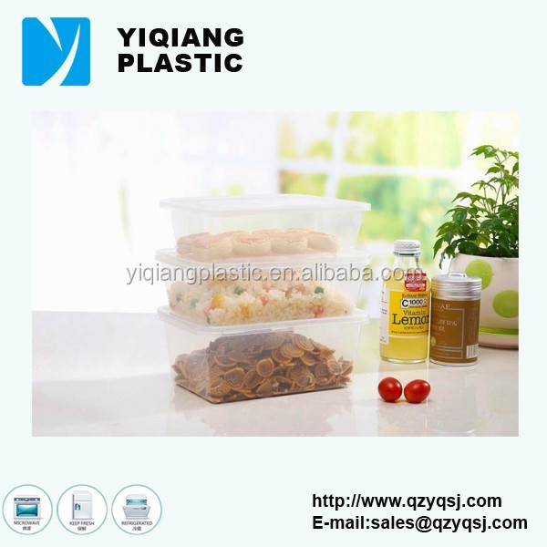 air tight plastic injection food packaging boxes in china