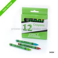 12ct wax crayons in box/box pack crayon skids /crayon set
