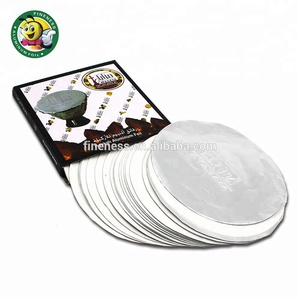 Pre-punched High Quality Silver Shisha Aluminum Foil Sheet Paper with Color Box