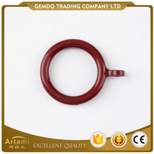 Best sale factory supply popular red plastic cafe curtain rings