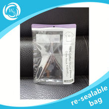 alu foil stand up zipper bag for snack with window