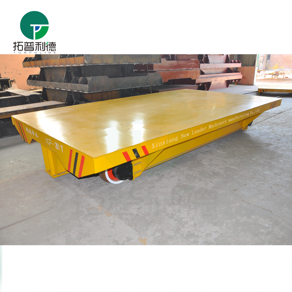 heavy load manual production line transfer vehicle for workshop