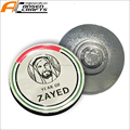 100th birth anniversary Zayed logo magnetic pocket pin badge for UAE's founding father magnet brooch