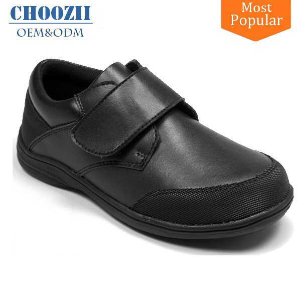 Customized Children Boys Leather Uniform School Shoes Factory