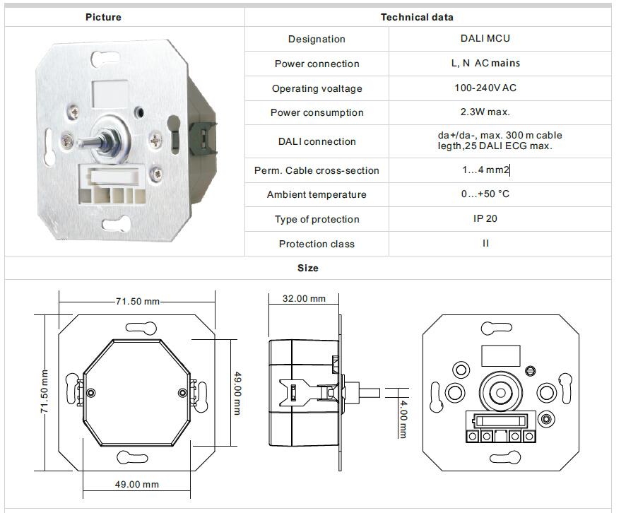 DALI MCU digital potentiometer, View DALI MCU digital potentiometer ...
