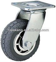 100mm PU heavy duty casters wheels,plastic core caster