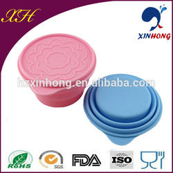 Wholesale new design collapsible silicone water bowl COL-03