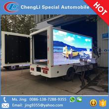 Foton AOLING outdoor digital billboard truck mobile led display in Chile