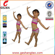 strips printed design children swim suit