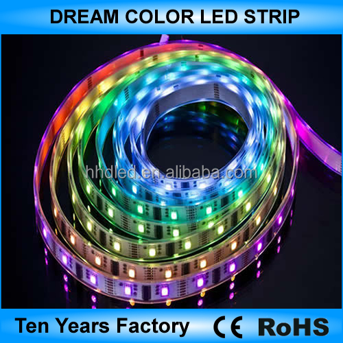 High quality 5v 12v 5050 dream color led strip lighting