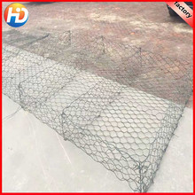 PVC Coated Gabion wire mesh / plastic coated Hexagonal Gabion Basket factory for sale from anping