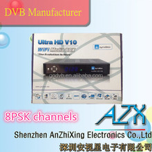 hd digital tv decoder JynxBox Ultra HD v10 usb satellite tv receiver wifi internet