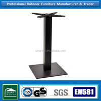 Restaurant cast iron black square table base very strong and cheap
