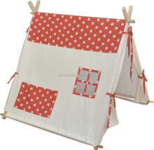 Canvas Fabric and Wooden Poles children's play tipi teepee tent