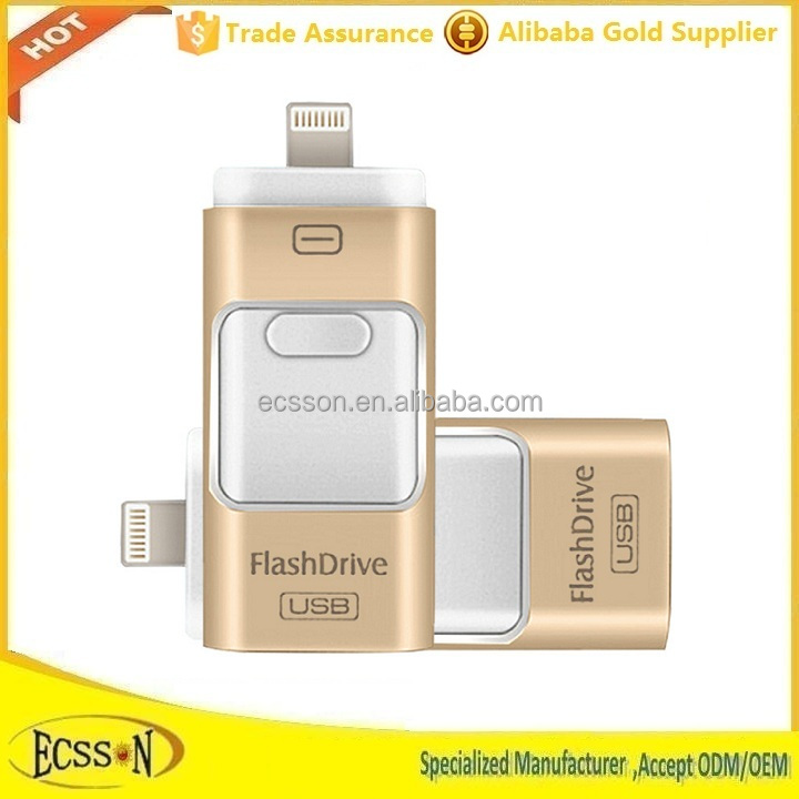 16GB 32GB 64GB otg usb flash drive wholesale for ipad , iphone , ipod and Android USB On-The-Go