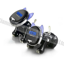 Animal shaped cat robot talking alarm clock/Cat Desk intelligent clock