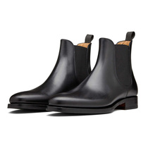 15 years Chinese factory men's high quality leather chelsea shoes boots