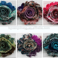 wholesale hair accessories flower designs fabric painting for baby