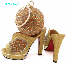 Gorgeous Wedding Female Shoes and Bag Set for Nigeria Party(IT071)