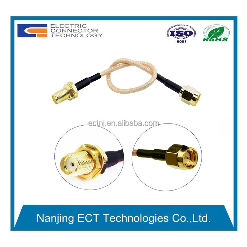 10cm SMA male plug to SMA female jack Jumper Pigtail Cable RG316