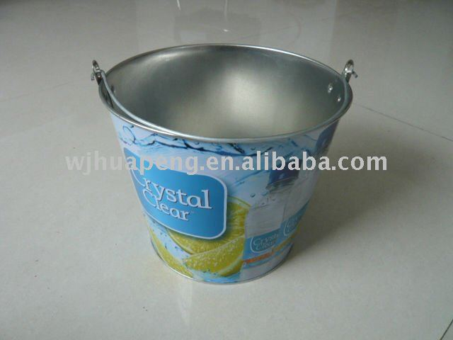 230x170x185mm ice tin bucket with handle water-proof featured